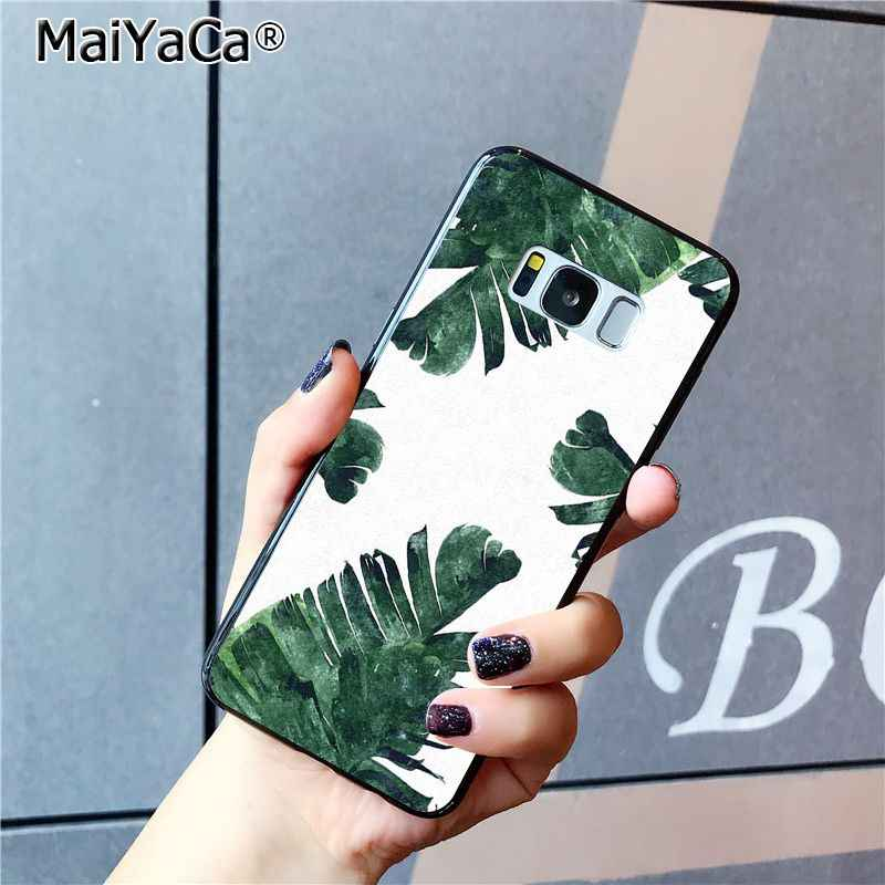 MaiYaCa ปาล์มต้นไม้รูปแบบโทรศัพท์กรณีสำหรับ Samsung Galaxy S9 plus S7 edge S6 S10 Lite S10Plus S10E S8 plus