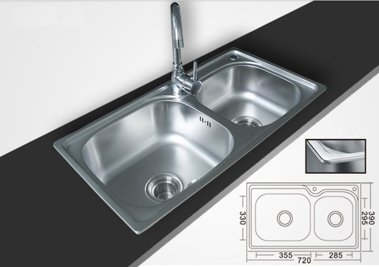 Kitchen Sink One Piece Stainless Steel Slot Wash Basin 7239 3 In Sinks From Home Improvement On Aliexpress Alibaba Group