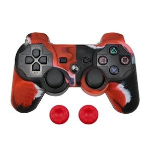 Image 3 - Bảo Vệ Silicone Ốp Lưng Da + Analog Gậy Cầm Cho Sony PS3 Bộ Điều Khiển Mũ Dành Cho PS2/PS3/PS4 tay Cầm Chơi Game Ngụy Trang