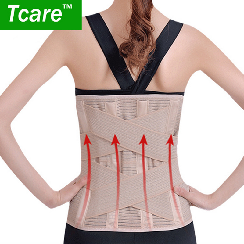 * Tcare1 Pcs Waist Health Care Belt keep warm protect lumbar Slimming Lower Back Support Waist Lumbar Brace Backache Pain Relief tcare adjustable tourmaline self heating magnetic therapy waist support belt lumbar back waist brace double band health care