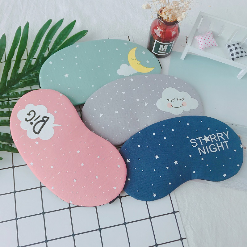 1PCs Cute Cotton Cartoon Eye Cover Sleeping Mask Creative Eyepatch Sleeping Aid Kids Blindfold Sleep Mask Travel Relax Eye Band
