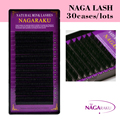 NAGARAKU 30case/lots eyelashes extension for grafting natural long eyelashes with high quality of synthetic mink material