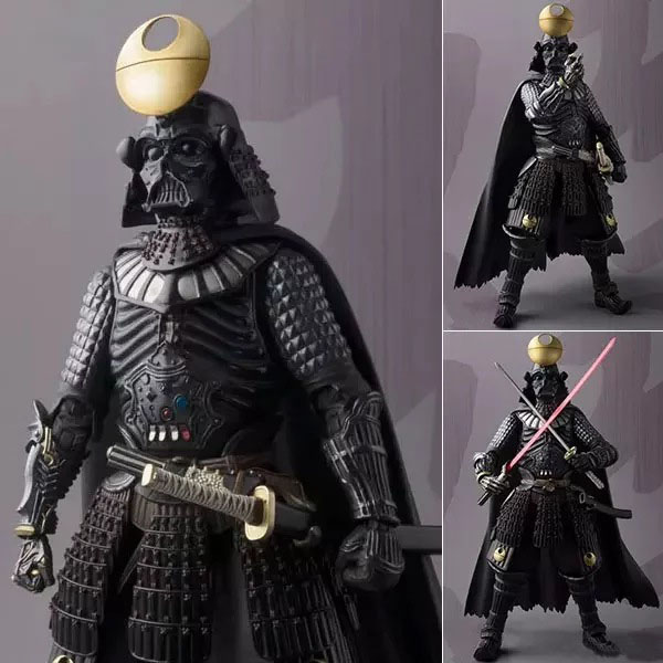 Free Shipping Cool 8 Star Wars Samurai Taisho Darth Vader Armor Boxed 20cm PVC Actioin figure Collection Model Doll Toy Gift free shipping cute 4 star wars stormtrooper darth vader bobble head shaking head toy model car decoration boxed pvc figure