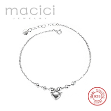 Women Legs Bracelets 925 Sterling Silver with Fox Charm Lovely Summer Women Foot Sexy Jewelry DL211
