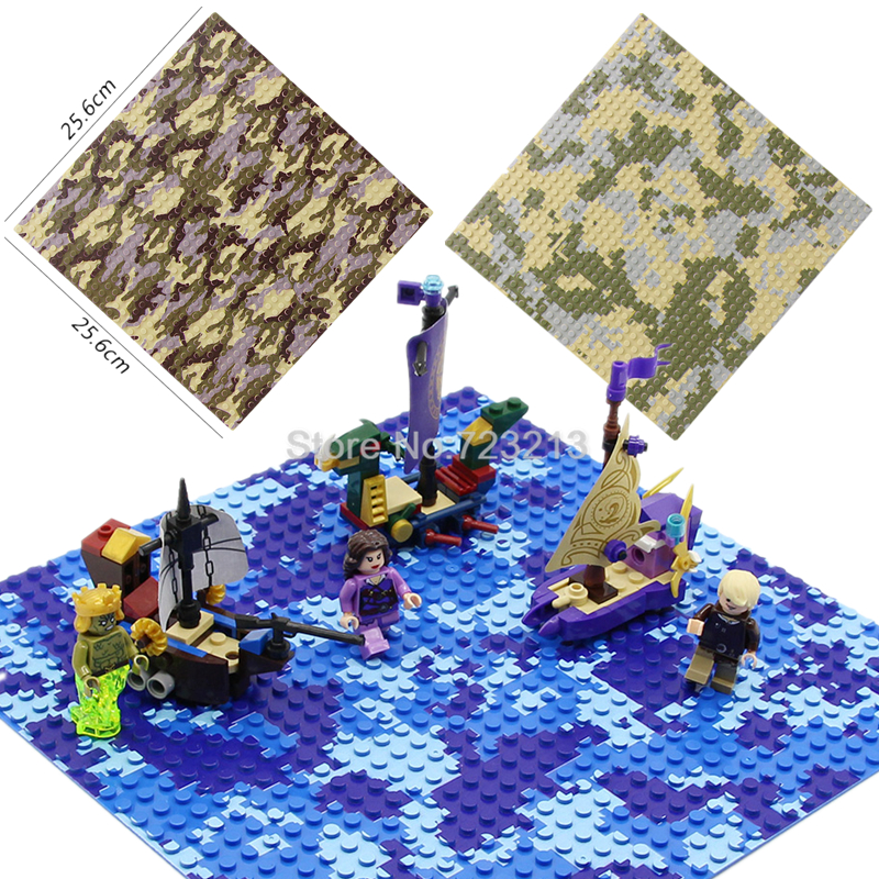 Baseplate 32x32 Dots Base Plate for Small Bricks Baseplate Legoingly Military SWAT Sea Base Straight Cross Plate Camouflage цена