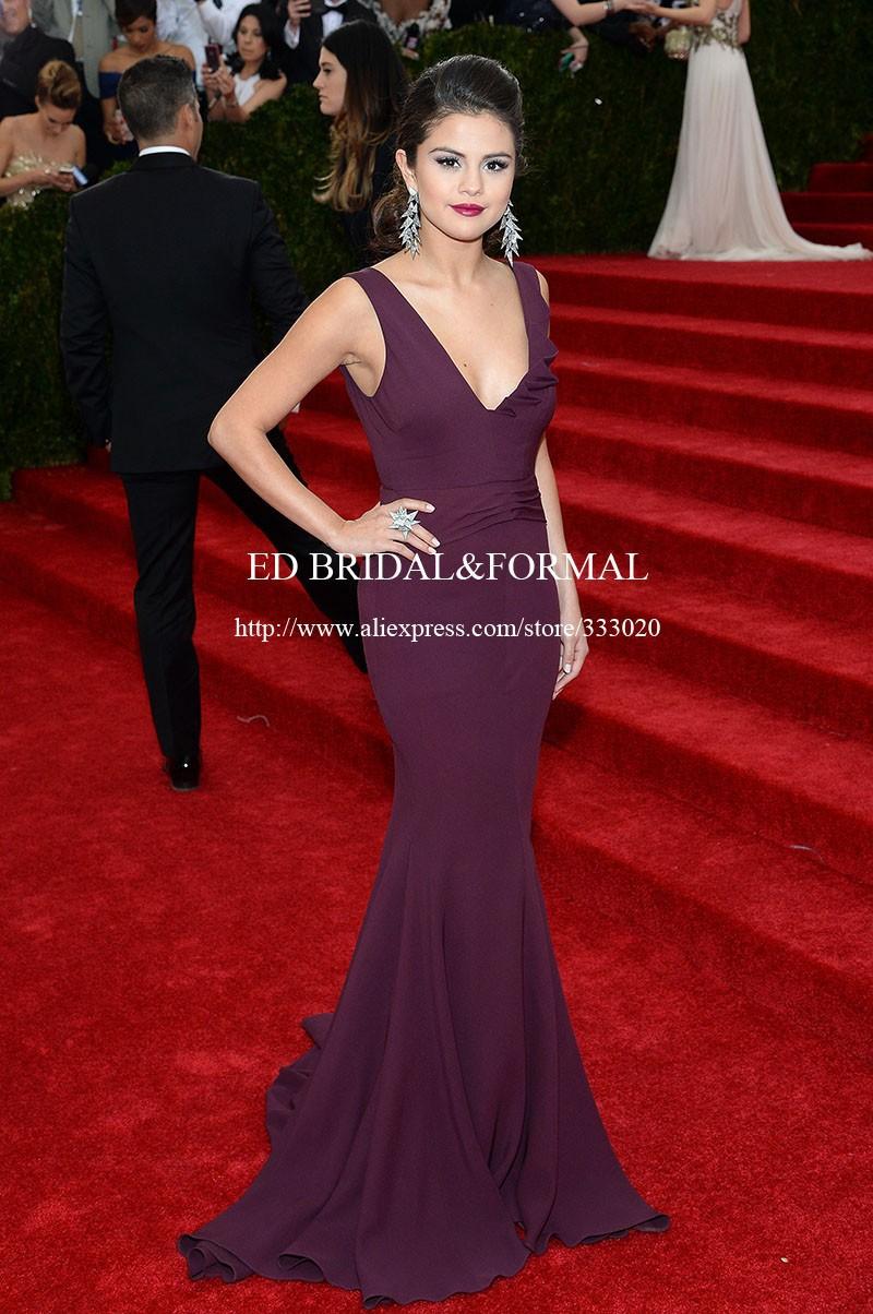 Selena Gomez Grape Prom Dress MET Gala 2014 Red Carpet (1)