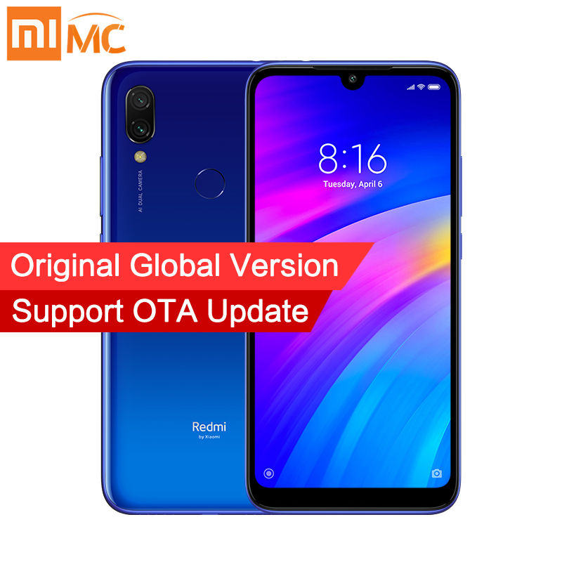 "Global Version Original Xiaomi Redmi 7 3GB 32GB Snapdragon 632 Octa Core 12MP Dual Cameras 6.26"" Screen Mobile Phones 4000mAh CE|Cellphones| |  - title="