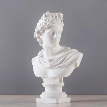 Apollo Bust Statue David Twelve Olympians Art Sculpture Resin Craftwork Roman Mythology Home Decorations R942