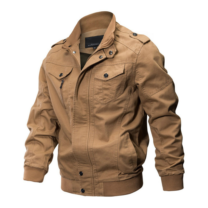 Spring Autumn Bomber Jacket Mens Military Army Workout Windbreaker Tactical Mens Jackets Coats