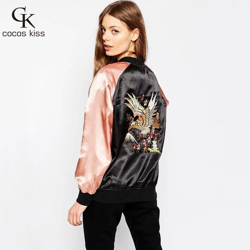 New arrival American casual style Eagle pattern embroidered veste ...