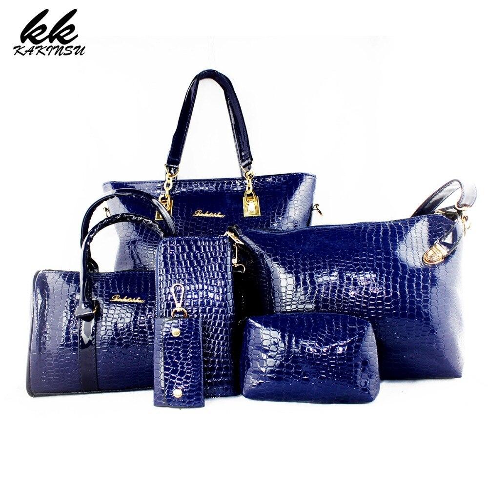 6 font b Set b font Luxury font b Handbags b font Women Bags Designer High