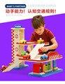 Los niños del coche de múltiples capas rompecabezas modelo de estacionamiento niños riel montado coche de madera juguetes De regalo de Año Nuevo En Stock