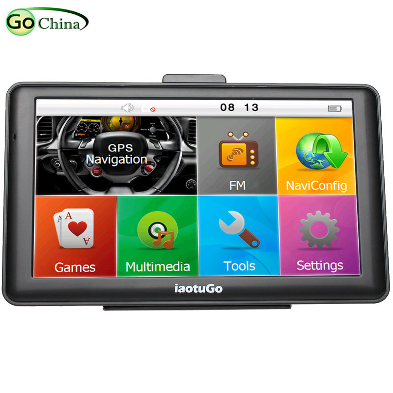 Iaotugo  Inch Capacitive Gps Car Navigator Gbluetooth Av In Hd  Euus Maps Truck Maps Free Updated