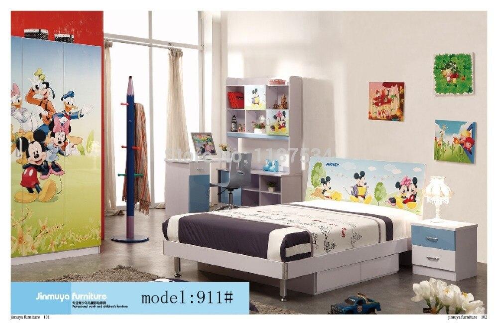 911 Bedroom home furniture bed wardrobe desk nightstand swivel chair hatstand hatrack furniture set 911 7979 002