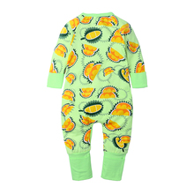 Kids Baby Boys Romper Long Sleeve Pajamas Clothes