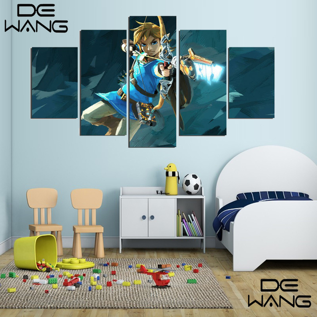Buy 5 pieces canvas wall art game the House decoration games on gahe