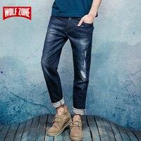 New Autumn Winter 2017 Jeans Men Fashion Trousers Slim Mid Full Length Causal Pants Robin Balmai