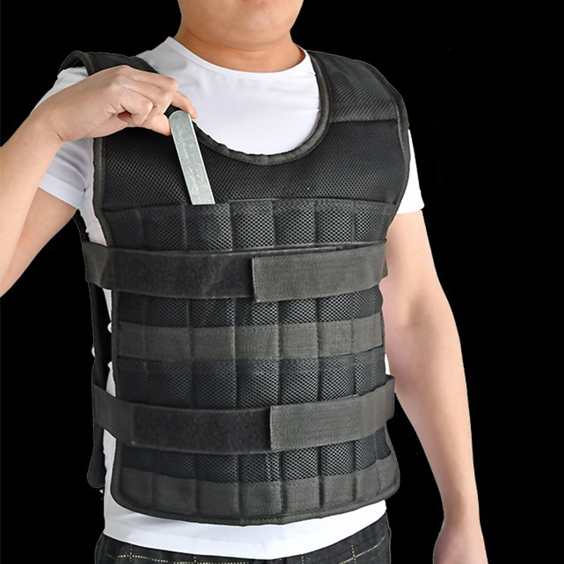 5kg 20kg 60kg Weighted Vest Adjustable Loading Weight Jacket Exercise Boxing Training Waistcoat Weightloading Vest(Empty)