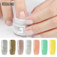 ROSALIND 10g Dip Powder Nails Natural Color Holographic Glitter Acrylic Nail Art Powder No Need Lamp Cure Dipping Powder Nails(China)