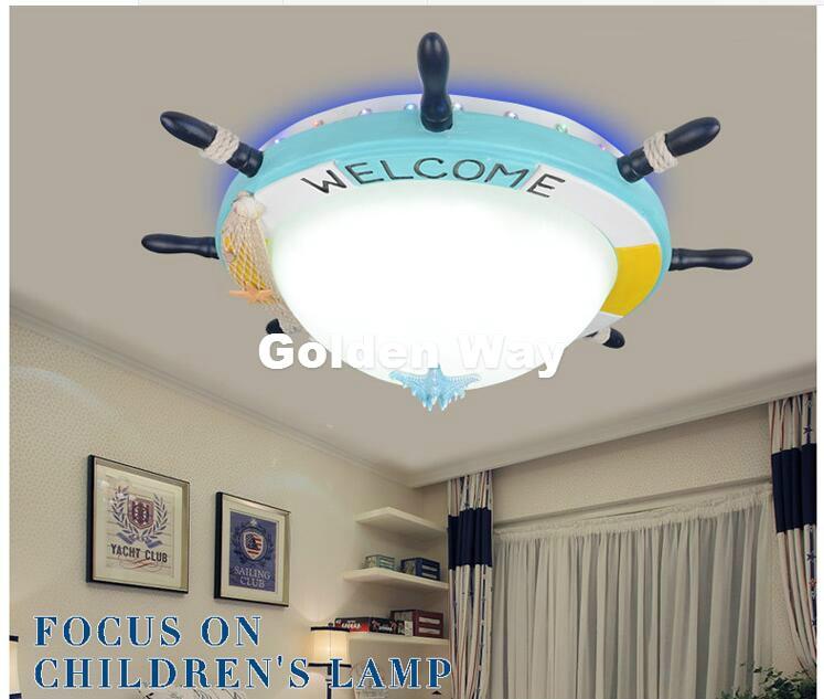 D65cm Modern Blue Cartoon Remote Controller LED Ceiling Lights 110V 220V Children Bedroom Lovely LED Ceiling Lamps Free Shipping