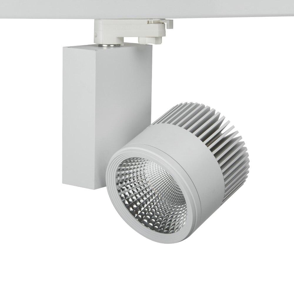 Dimmable ou Non Dimmable industriel COB LED lumière de voie 50 W LED lampe de rail LED s projecteurs luminaire pour magasin magasin spot éclairage