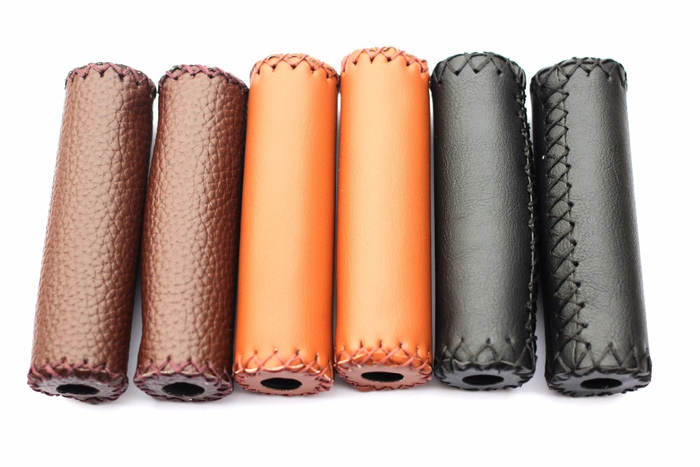 2pcs Bicycle Foam Grips MTB Folding Bike Soft Comfortable Cycling Bicycle Grips Anti-Slip Leather Sponge Handlebar Grips