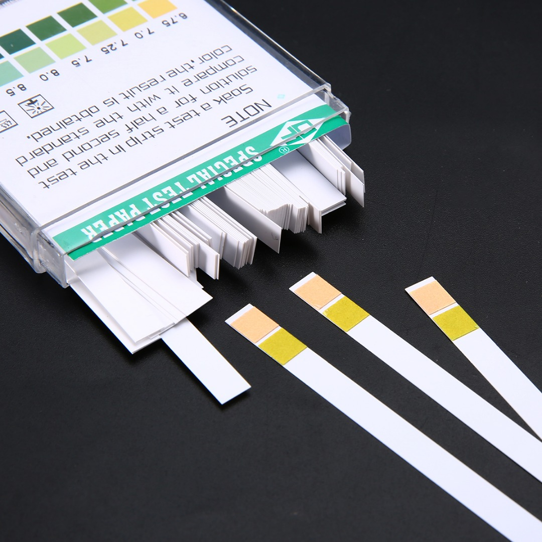 100pcs Laboratory Household PH Test Strip Indicator PH4.5-9.0 Test Paper For Water Saliva and Urine Testing Measuring Mayitr