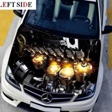 Левая сторона автомобиля стикер s двигатель дизайн двигателя водонепроницаемые наклейки ПВХ бумага забавная Наклейка на крышу камуфляжная виниловая пленка винил