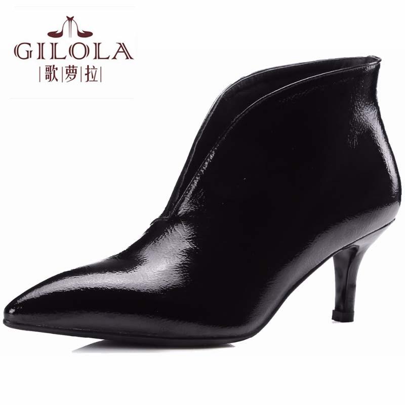 Bottes Cuir Black Chaussures Zipper Basse FemmeY0119054q Véritable Talons Mode Gilola Plate Hiver Cheville forme Femmes white En Moto Automne Pour 6ygIYbf7mv