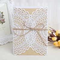 10Pcs Romantic Wedding Party Event Invitation Card Kit With Envelopes Seals Personalized Printing Envelope Seals Party