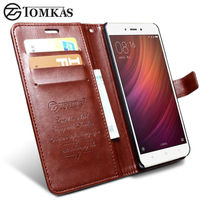 Xiaomi Redmi Note 4 Case Cover TOMKAS Original Leather Phone Bag Cover Flip Wallet Case For