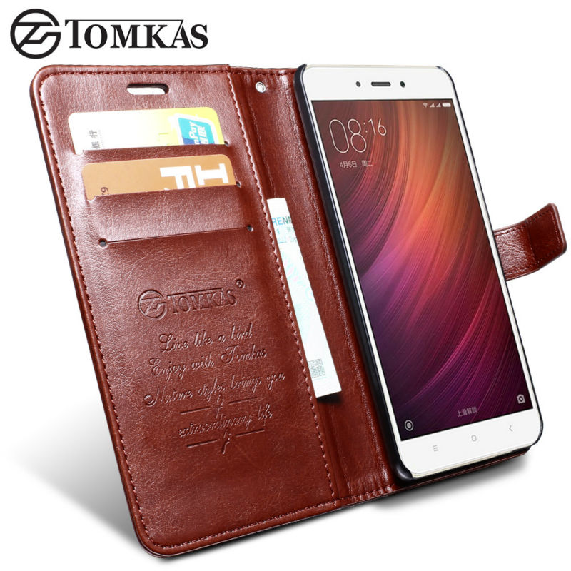 Xiaomi redmi note 4 case cover tomkas original leather phone bag cover flip wallet coque case - Xiaomi redmi note 4 case ...
