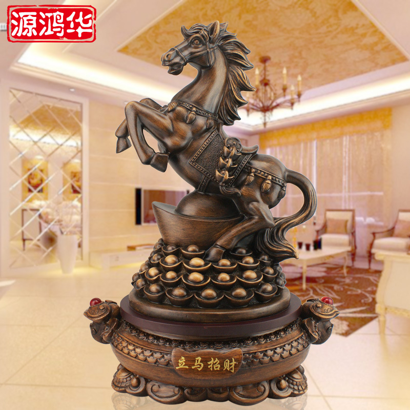 home decoration accessories resin crafts ornaments lucky horse decoration office immediately Home Furnishing jewelry ornaments