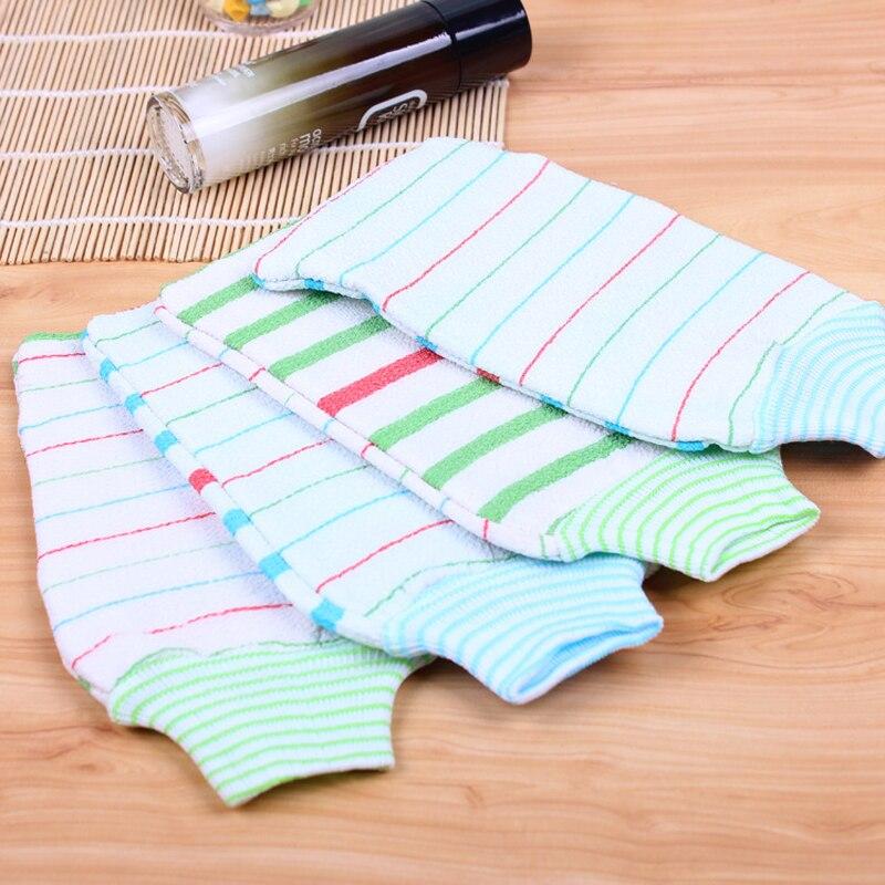 Double Face Technology Towel: 2016 Hot Sell Bath Cuozao Gloves Soft Bath Towel Stripes