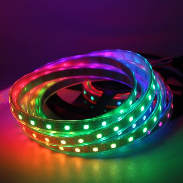 1 m/5 m WS2812B 30/60/144 leds/m Smartled pixel RGB direccionable individualmente led tira de luz negro/blanca PCB WS2812 IC WS2812B 5 V