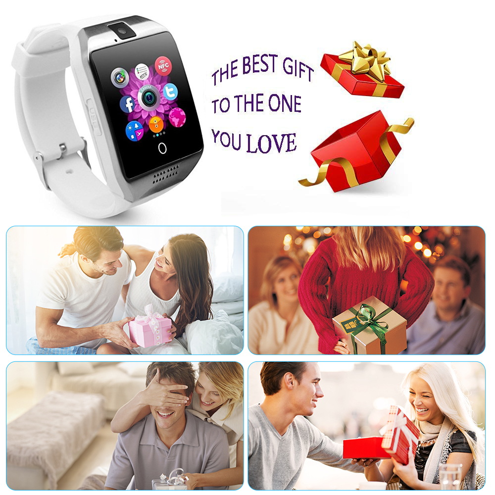 MOCRUX Q18 Passometer Smart watch with Touch Screen camera Support TF card Bluetooth smartwatch for Android IOS Phone 1