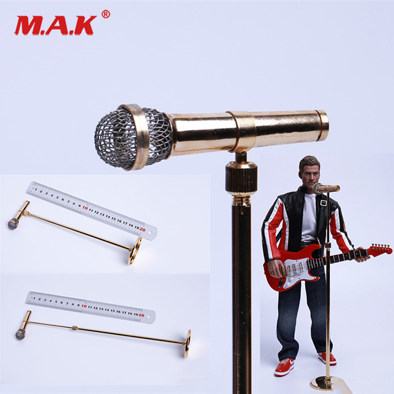 "1:6 Toy Adjustable Height Musical instrument Model Microphone For 12/""  figure"