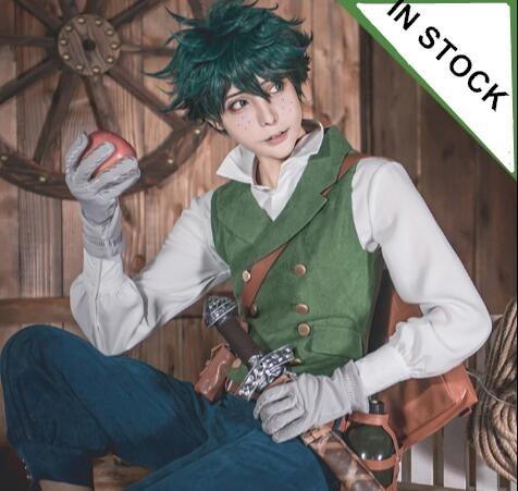 Anime Boku no Hero Academia Midoriya Izuku Cosplay costume  Heroes clothes wig BAG SWORD