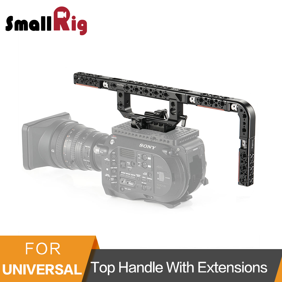 SmallRig Top Handle with Extensions For FS7/ FS7II/ FS5/ URSA Mini/ RED Top Handle Kit With Cold Shoe/Nato Rail/Arri Holes  2309-in Tripod Monopods from Consumer Electronics    1