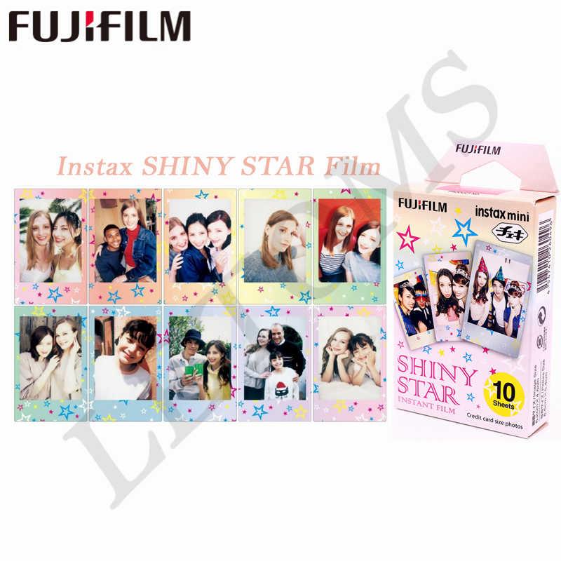 الأصلي Fujifilm 10 ورقة نجوم شريط TSUM الأسود الإطار العميل فيلم فوري ورق طباعة الصور ل Instax Mini 8 7s 25 50s 90 9 SP-1