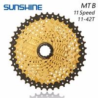 LUZ DO SOL Velocidade MTB Mountain Bike Roda Livre Cassete Roda Livre Bicicleta 11 Golden 11-42T Para Peças SHIMANO XT SLX M7000 k7 NX GX