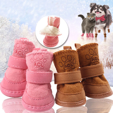 Warm Pet Dog Cat Winter Shoes For Dogs Non-slip Dog Snow Boots Chihuahua Shih Tzu Shoe Zapatos Perro Best Selling 2018 Products