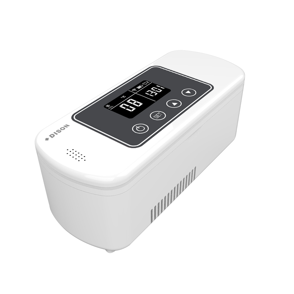 DISON Medicine Refrigerator Battery Operated Portable Mini Fridge Medicine Cooler Box
