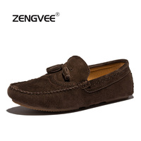 ZENGVEE 2017 Mens Casual Loafers Boat Shoes Spring Autumn New Tassel Breathable Slip On Solid Cheap