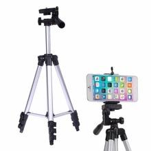Soporte del trípode de cámara profesional cámara digital + mesa/sostenedor de la pc + soporte para teléfono + nylon bolsa de transporte para iphone samsung