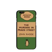07154 penguin murders praed street Hard black Cover cell phone Case for iPhone 4 4S 5 5S 5C 6 6S Plus 6SPlus