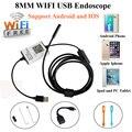 Hd 720 p 8mm 1/2/3/5 m câmera endoscópio endoscópio sem fio wi-fi android hd 720 p ios iphone endoscópio câmera de inspeção à prova d' água