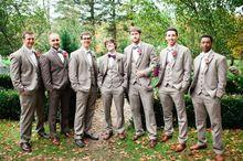 2017 Latest Coat Pant Designs Light Grey Men Suit Groomsman Blazer Slim Fit Tuxedo Custom Wedding Suits 3 Piece Blazer Masculino