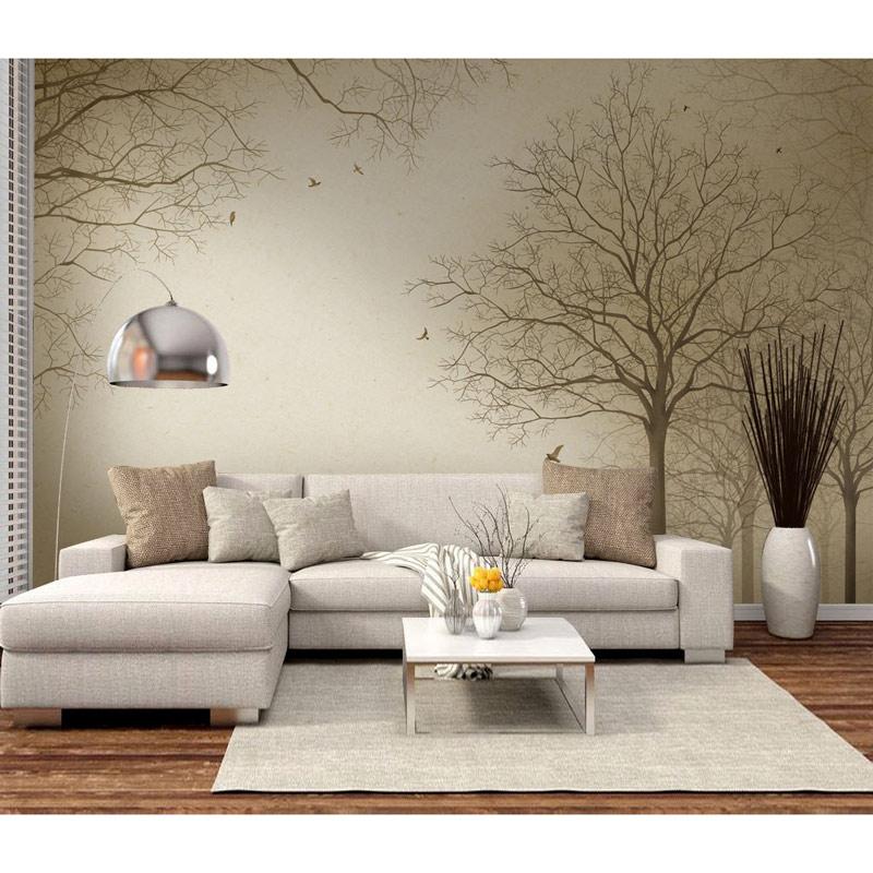 Us 15 49 49 Off Modern Wall Paper Tree Landscape Photo Wallpaper Mural Living Room Bedroom Carta Da Parati 3d Self Adhesive Vinyl Silk Wallpaper In