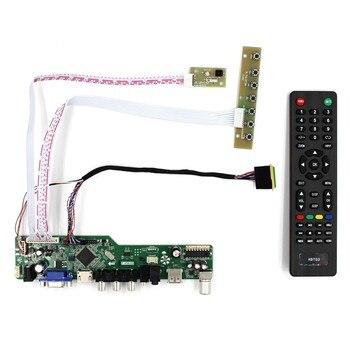TV HDMI USB VGA AV AUDIO LCD Placa de controlador para B156XW02 LP140WH1 1366x768 LCD Panel